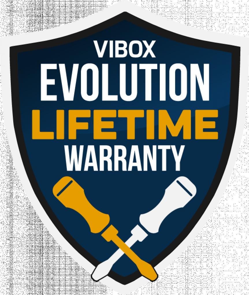 Vibox Evolution Lifetime Warranty badge